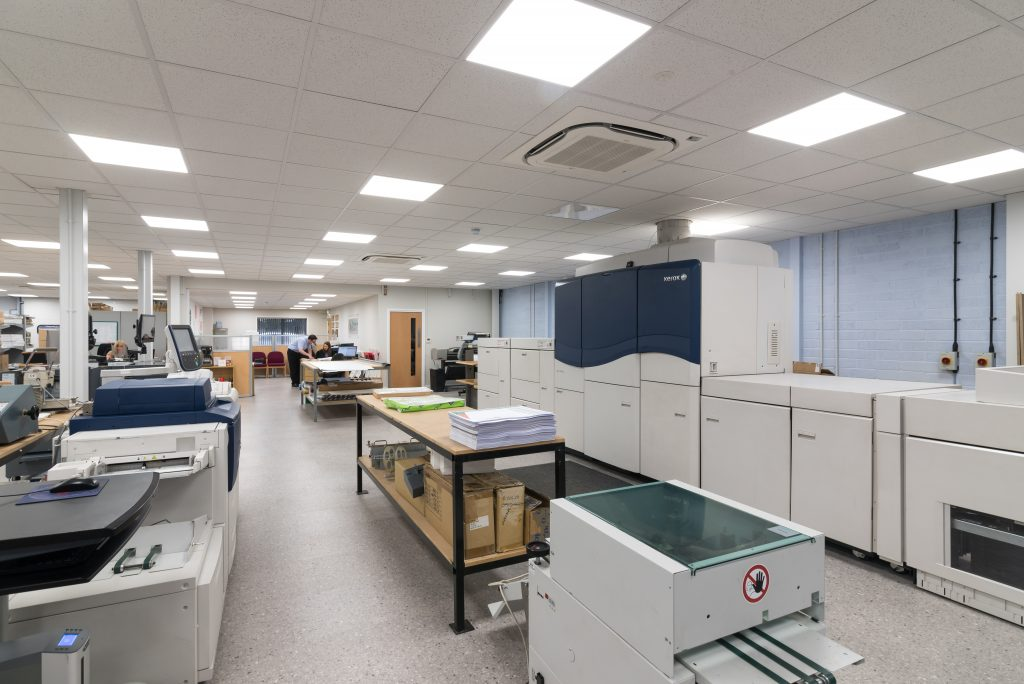 Minuteman Press printing franchise, Kings Lynn, England interior. http://www.minutemanpressfranchise.co.uk