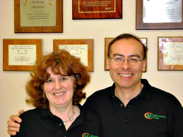 Lise and Jeff Whittle. http://www.minutemanpressfranchise.co.uk