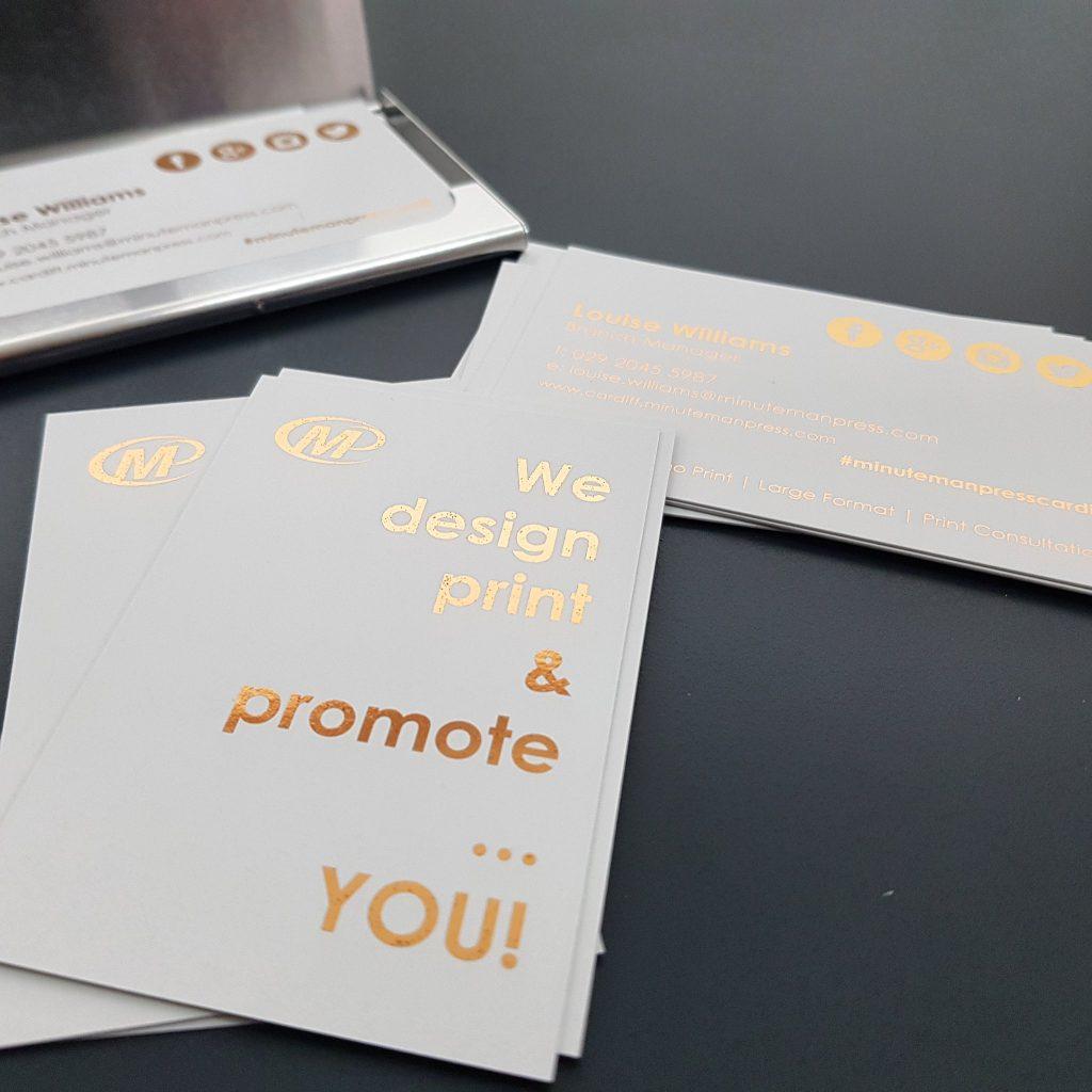 Minuteman Press Cardiff - Foil Business Cards http://www.minutemanpressfranchise.co.uk