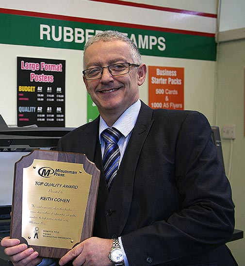 Keith Cohen, Minuteman Press franchise owner, Falkirk, Scotland. http://www.minutemanpressfranchise.co.uk