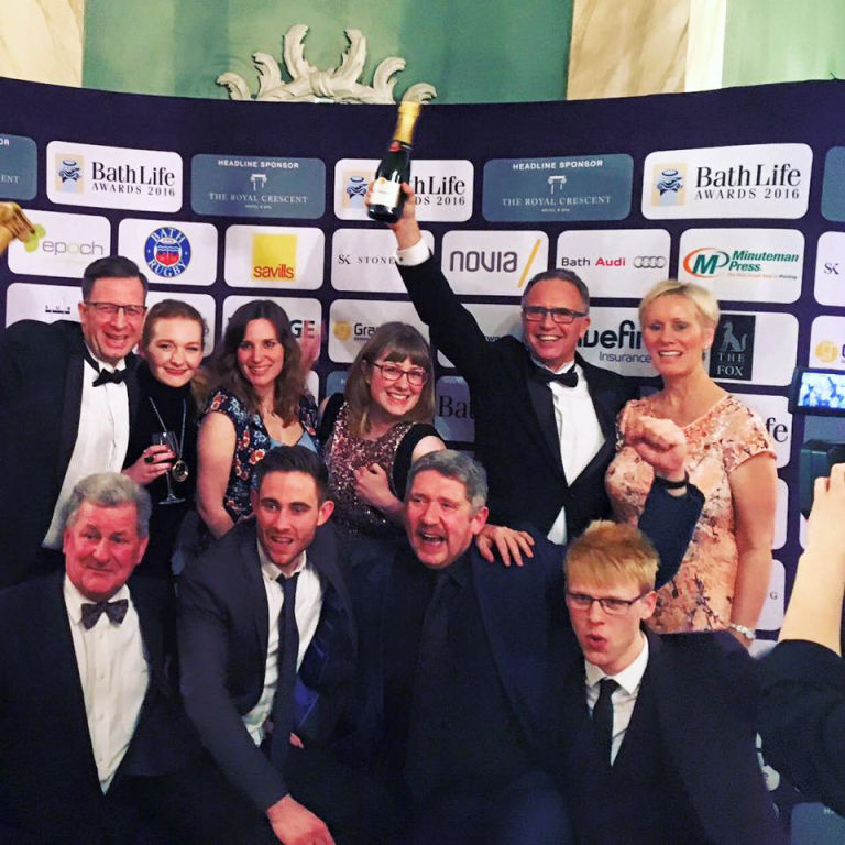 Minuteman Press in Bath celebrates their win for Best Business Services Provider at Bath Life Awards 2016 http://www.minutemanpressfranchise.co.uk