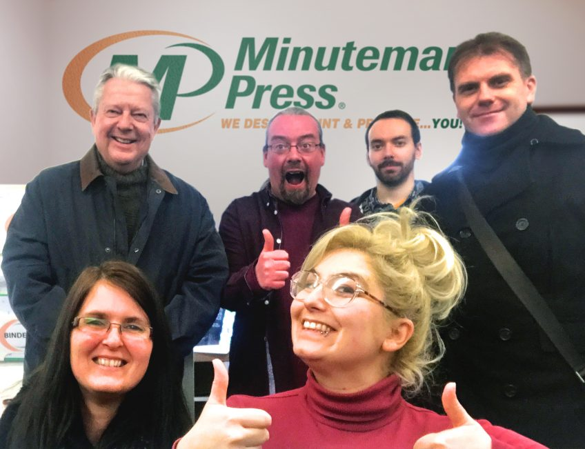 Meet the Minuteman Press franchise team, Norwich, England - L-R: Anne, Philip, Sean, Morwenna, Danny, and Daniel. https://minutemanpressfranchise.co.uk