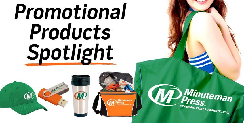 Promotional Products Spotlight: 3 Ways to Promote Your Business with Logo-Branded  Items - Minuteman Press United Kingdom Franchise